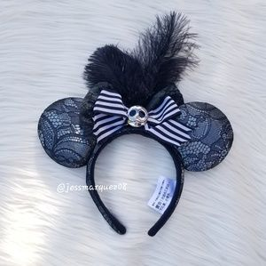 Disney Parks Jack Skellington Minnie Mouse Ears
